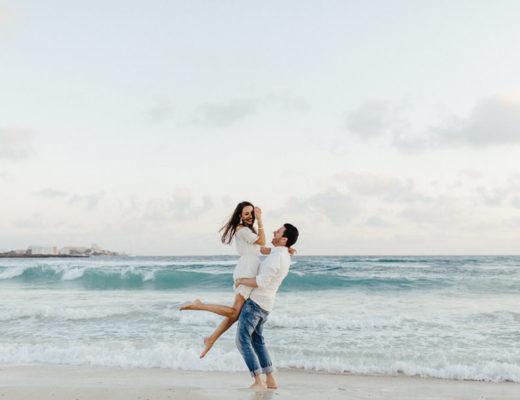 Strandliebe / Paar am Strand - aufgenommen von Carmen and Ingo Photography