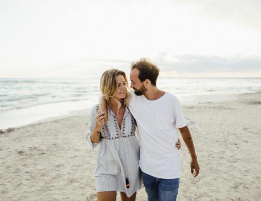 Paar am Strand - aufgenommen von Carmen and Ingo Photography